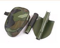 Wholesale Mini Multifunction Folding Shovel Survival Dibble Pick Camping Outdoors Tool Spade Shovels