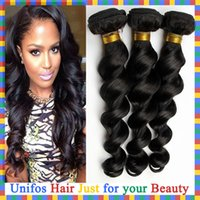 brazilian hair bundle jet black - Jet Black Brazilian Virgin Hair Extensions Loose Wave Human Hair Bundles Natural Black Virgin Brazilian Loose Wave Hair Weft Gram