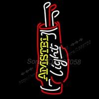 bag ny - Amstel Light Golf Bag Neon Beer Sign Display Avize Neon Ny Jets Real Glass Tube Handicraft