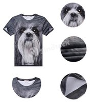 Wholesale 3D Animal Print T Shirts For Men Fashion Printing Plus Size Tees Short Sleeve Polo Patterns Tiger Wolf Polyester Factory Direct DHL