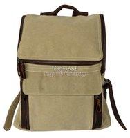 Wholesale Canvas Leather Backpack school bags luggage bags duffle bag travel bag travel bag gym bag leather bags designer bags Medium Beige