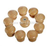 Wholesale 10pcs Pack Natural Wooden Cabinet Drawer Wardrobe Door Knob Pull Handle Hardware Plain A3