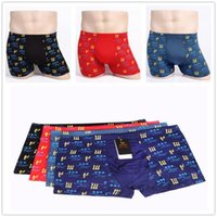 sexy pants for men - Red Black XL XL XL XL New Underwear Men Modal Underwear Sexy Men Pants Circle LetterM A Printed Soft Breathable Boxers for Men