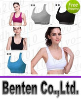 Wholesale free Professional sports bra wireless shockproof running vest design young girl bra yoga push up fitness running sports bra LLFA2448F