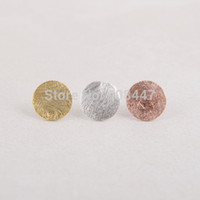 Cheap 1 PCS-S13 Fashion jewelry new wholesale Gold Silver Pink Gold Brushed round Circle stud Earrings -Free shipping over $10