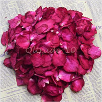 Wholesale 500set CCA3272 High Quality g Bag Bath Rose Dried Flower Skin Care Bath Real Rose Petal Wedding Decoration Rosa Bride Romantic Rose Petals
