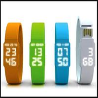 bracelet usb flash drive - 32GB Fashion silicone watch USB Flash Memory Pen Drive Sticks Thumb Drives Disks Discs GB Pendrives Thumbdrives free dropship