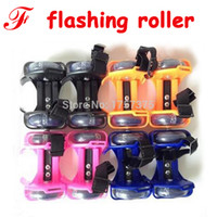 Wholesale Sporting Pulley Lighted Flashing Wheels Heel Skate Rollers Skates Wheels Shoe Flashing Roller Skate Shoes with Wheels