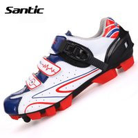 Wholesale Santic Men s Professional Cycling Shoes Microfiber Breathable Mesh Bicycle Sports Racing Mountain Bike Shoes Athletic MTB