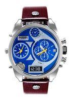 Wholesale Men s Watches Best Selling DZ4280 Men s Dieseldz Mega Chief Leather Strap Watch MM Tan Gunmetal Men Luxury Watches
