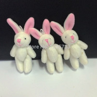 Wholesale cm lovely mini candy plush bunny mini jointed rabbit flower bouquet packing material
