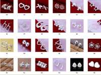 Stud Women's Alloy Fashion Nail Earrings mixed 56 styles earrings 925 sterling silver jewelry factory price 10pcs lot