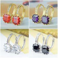 zirconia stud earrings - High Quality Mixed Designs Colors Fashion Cubic Zirconia Jewelry Drop Dangle Women Girls Earrings and Hoop Stud Earrings