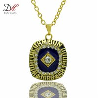 angeles pendant crystals - Daihe Brand Hot Selling Los Angeles Baseball Team Pendant Necklace Gold World Series Championship Necklaces For Men Gift NC4668