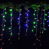 Wholesale 96LED M V Curtains Waterproof String Lights Christmas Window Party with Modes for Wedding Party Holiday Night Lamp Red Blue Green