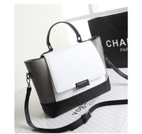 Wholesale new Women Messenger Bags Black and White Patchwork Designer Leather Handbags Fashion Shoulder Bags2015 Europe and the United States Style