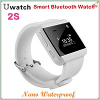 Wholesale U Watch S Nano Waterproof Wireless Bluetooth Smart Watch Make Answer Call Message SYNRemote Camera for iPhone Samsung Android Mobile Phones