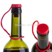 Wholesale New Silicone Sealing Plug Anti lost Wine Beer Kitchen Condiment Bottle Stoppers Kitchen Tool Color Send At Random
