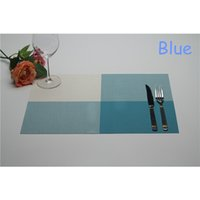 Wholesale New Kitchen Bra Coaster Waterproof PVC Placemat Family Western Dinning Table Mat Retro Heat Resistant Rectangular Cup Coffee Insulation Pad