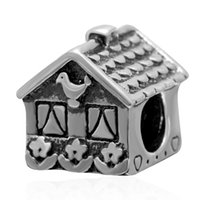 antique bird house - New DIY Antique Bird House Charms Original Authentic Sterling Silver Beads fit for European bracelets Necklaces