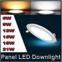 aluminum grid ceiling - Ultra thin W W W W W W LED Ceiling Recessed Grid Downlight Slim Round Panel Light
