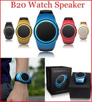 Wholesale B20 Bluetooth Sport Speaker Stylish Watch Design Portable Super Bass Outdoor Speakers Wrist Bracelete With Built in Microphone Hands Free