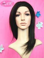 lace front wigs - 100 Brazilian Remy Human hair Lace Front Wig Straight hair without fringes Natural Color Hair For African Ladies