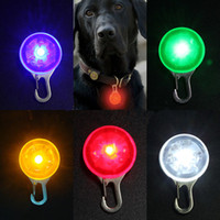 Wholesale 2015 New Arrival Pet Puppy LED Flashing Safety Night Light Dog Circular Blinker Pendant small order no tracking