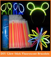 Cheap FreeShipping One-off glow-sticks fluorescent bracelets with adapter, DIY disposable golw-sticks 100pcs lot order<$18no track