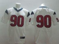 Cheap NEW season top quality Cheap Texans american football jerseys 90#Clowney black&white&red men's Elite jerseys