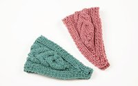 Wholesale Korea Winter Women Knitted Headbands High Quality Warm Wool Headwrap Headwear Crochet Girls Headbands Party Hair Accessories DHL