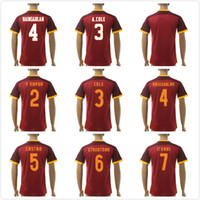 Sale barato 2016 ROMEes Soccer Jersey casa Fuera Rojo Gervinho JAJIC Salah Falque Keita 15-16 Tailandia Calidad ROMEes Jersey