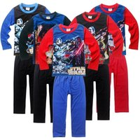 Wholesale Children Clothes Design For Boys - PrettyBaby The Force Awakens Star wars long sleeve pajamas set for kids boys 2016 Spring Summer new children homewear clothes sets 6 designs