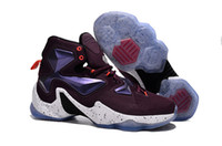 pvc door - Newest arrival fashion Lebrones xiii men infrared LBJ XIII basketball shoes door to door best service size