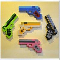 Wholesale 2014 new color Minecraft EVA diamond foam bubble gun kids boys girls toys christmas birthday High Quality gifts topB988