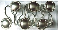 Wholesale Best quality Classic chrome plating metal shower curtain hooks set of