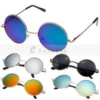 Wholesale Hot Fashion New Goggles Fashion Women Summer Shade Round Style Multicoloured Mirror UV400 Sunglasses