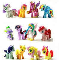 Wholesale Cartoon Friendship Is Magic little cute PVC Cartoon toys Action Figure my little pony pvc in stock