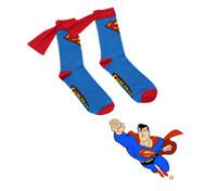 Wholesale Top Quality Superhero Caped Socks Long Cloak Football Socks Superman Batman Socks For Women Men Kid Cotton Stockings