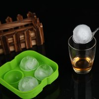 Wholesale New Silicone Whiskey Ice Cube Ball Tray Brick Round Maker Mold Sphere Mold Chocolat Mould Cool Bar Party Gadgets