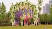 wisteria vines - Wisteria Wedding Decor cm cm colors Artificial Decorative Flowers Garlands for Party Wedding Home DHL Free ship