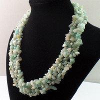 amazonite chips - Intriguing New strand Amazonite Gem chip Bead Necklace inch