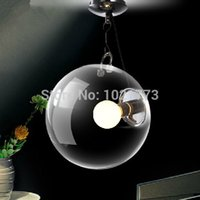 Wholesale Fashion Clear Soap Bubble Shape Pendant Light E27 Ceiling Lamps Apply In Bedroom Living Room Bar Mall Coffee