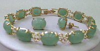 aventurine earrings - gt gt gt Natural Green Aventurine bracelet earrings set AAA