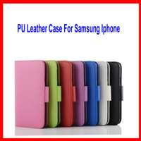 bag holder stand - PU Leather Case Stand Wallet Style Photo Frame Phone Bag Case Cover With Card Holder For Samsung S3s45 s6 iphone6 iphone plus