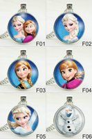 anna necklace - 2015 Necklaces anna elsa olaf girls Jewelry Pendant Necklace Jewellery christmas Gift for women boys kids children sweater chain