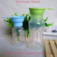 Wholesale Baby bottles funnel General standard caliber wide caliber bottles juice filter Spill milk powder funnel EJ674215