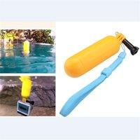 Wholesale Yellow GoPro Bobber Floating Hand Grip handheld Monopod Wrist Strap Screw For GoPro HERO HD SJ4000 SJ5000 SJ6000 Camera