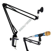 best mic stands - Best Selling New Arrival Broadcast Studio Microphone Stand Mic Suspension Boom Scissor Arm Stand Recording