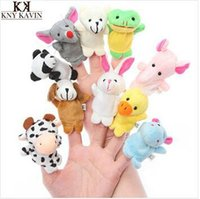 Cheap 10pcs bag Plush Finger Set Kid Child Baby Toy doll Learn&Education finger puppets Play Story Telling hand puppet order<$15 no tracking